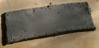 scoring clay, clay slip, clay slab construction