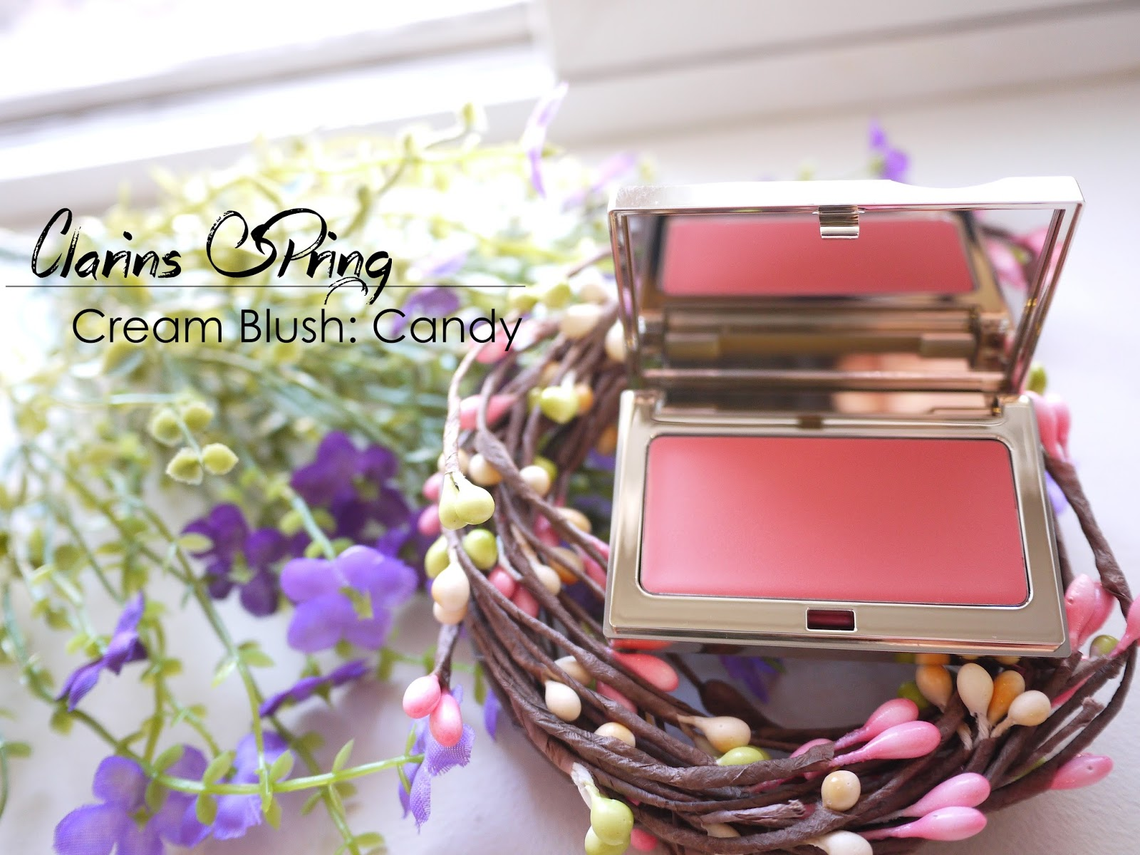 clarins spring 2014 multi-cream blush candy swatch review