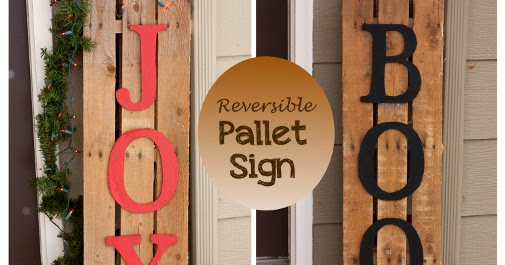 Everyday Art Reversible Pallet Sign Christmas And