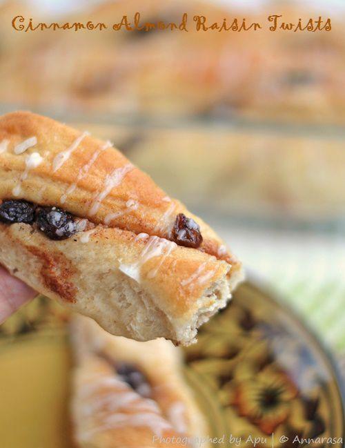 Annarasa ~ Essence of Food: Cinnamon Almond Raisin Twists