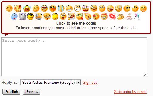 Memperbaiki Pesan Komentar atau Emoticon Yang Turun Kebawah