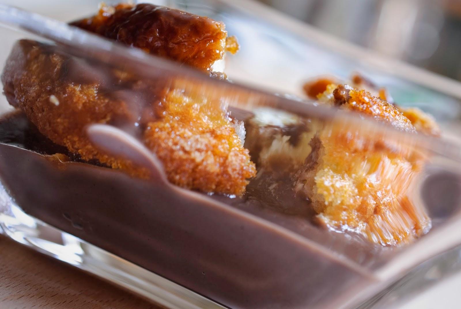 Pudin de cacao; cocoa pudding