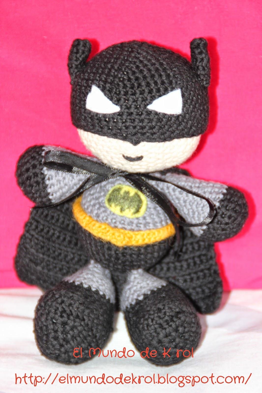 El Mundo de K rol: Patrón Batman Amigurumi