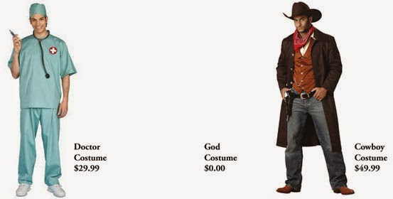 Funny God Halloween Costume Joke Picture