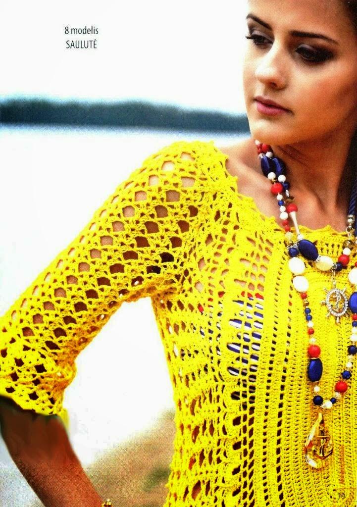 Bellísimo vestido calado al crochet con patrón