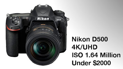 new Nikon camera, Nikon D500, 4K video, new DSLR camera, Wi-Fi, NFC, professional camera, Nikon vs Canon,