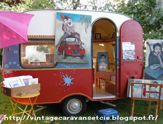 caravanes vintage et cie caravanes d 39 artistes. Black Bedroom Furniture Sets. Home Design Ideas