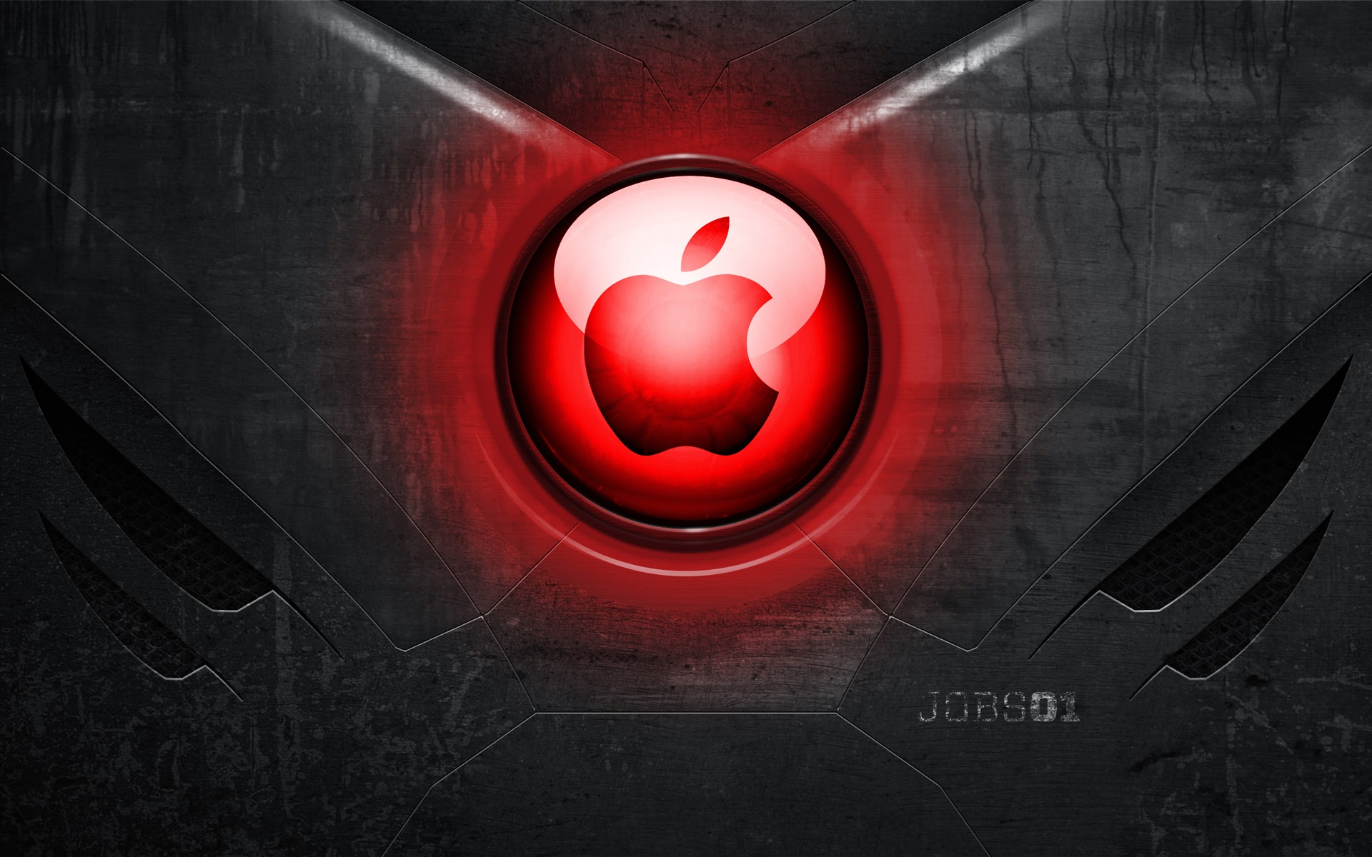 Iron Man Heart Apple Logo A522 HD Wallpaper