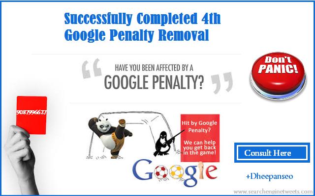 Google penalty removal service