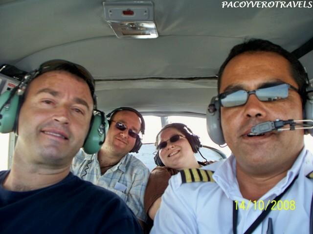 Selfie sobrevolando las lineas de Nazca