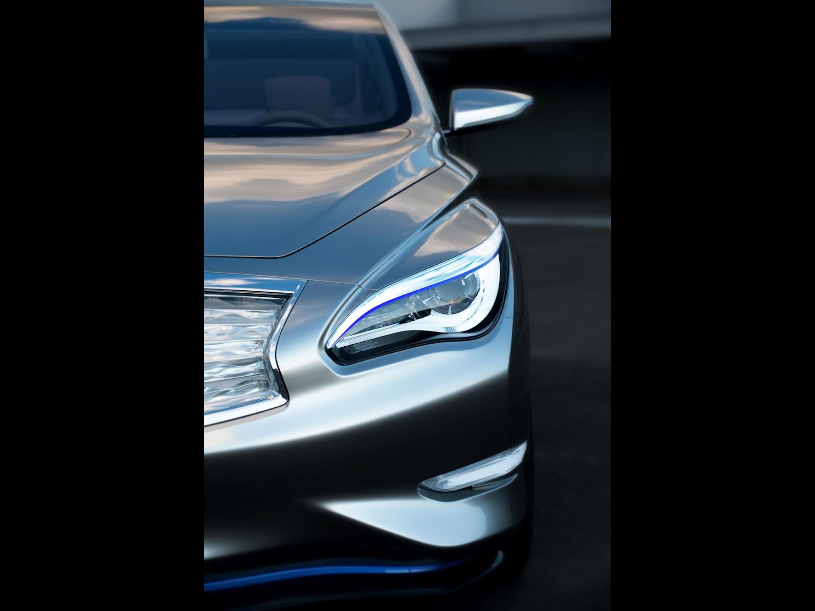 2012 infiniti le concept zero emission luxury sedan news hot car 2012 le concept headlight vanachro Image collections