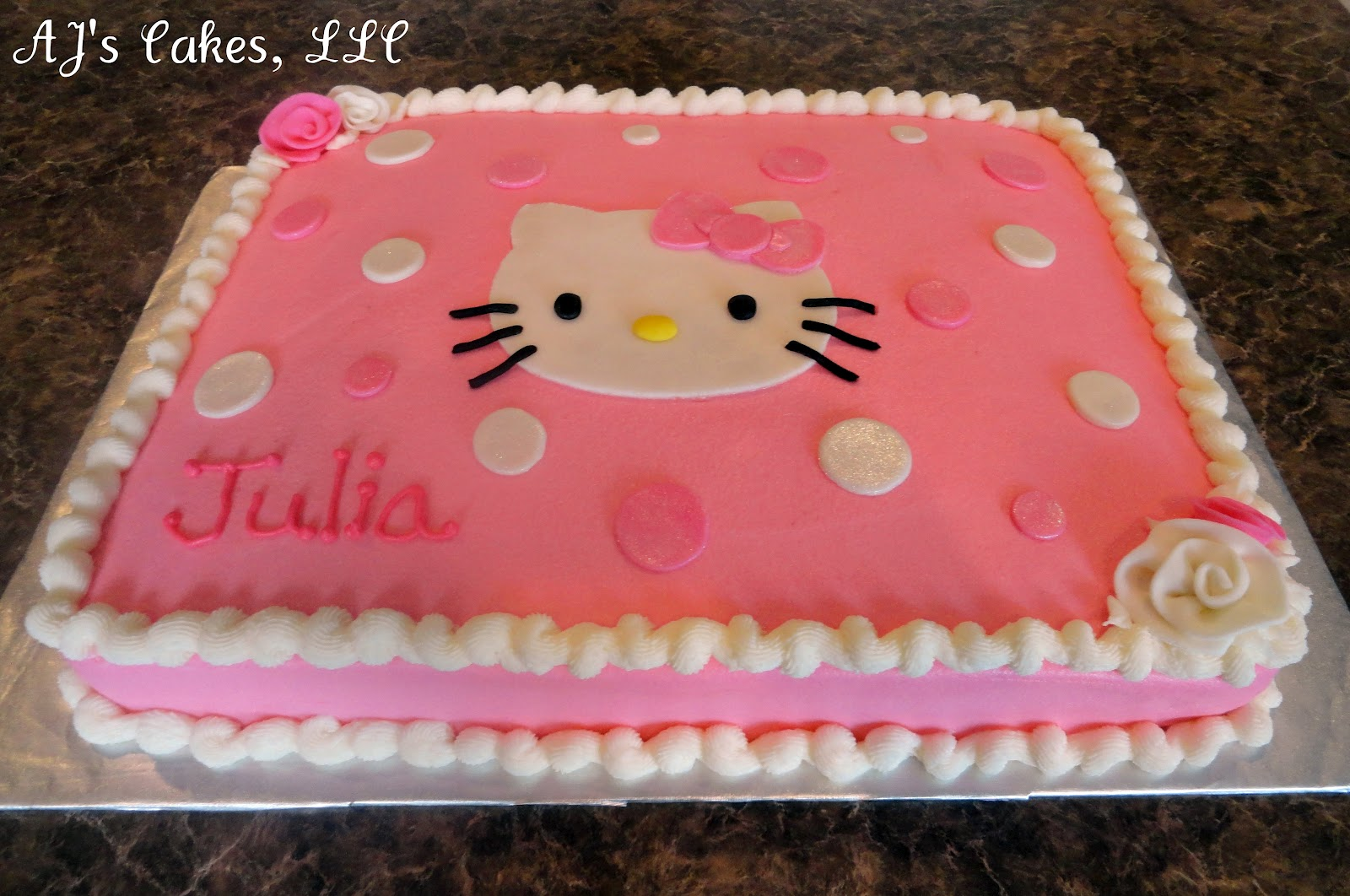 AJ s Cakes: Hello Kitty Sheet Cake