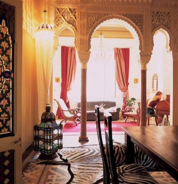 Living room for Arabic interiors decoration