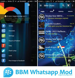 Download BBM Whatsapp Abstract Blue Mod Apk