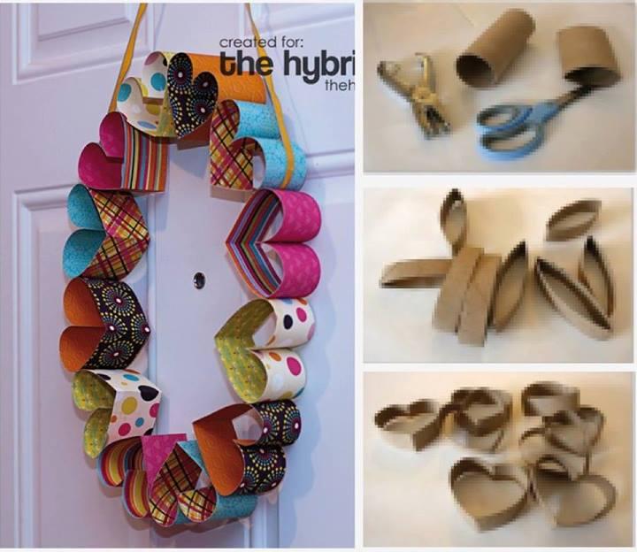 Arreglar Baño Antiguo:Paper Towel Roll Wreath