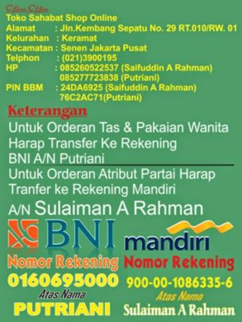 Daftar Harga Atribut Partai di Toko Maha Karya Advertising Senen Jakarta Pusat