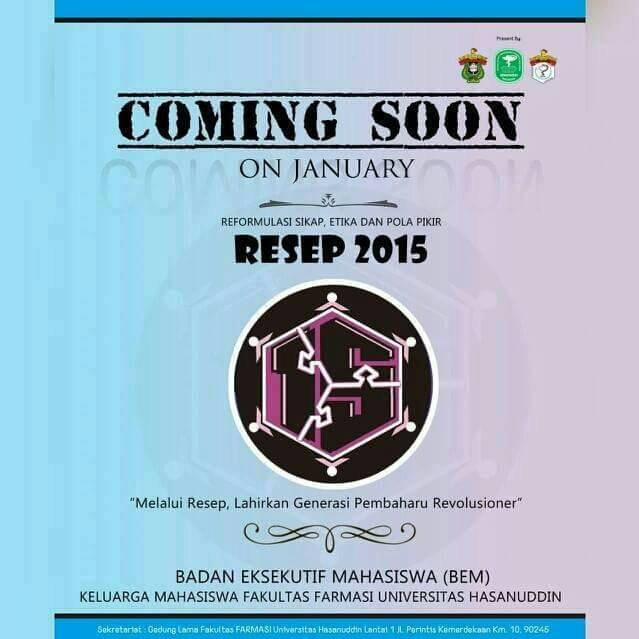 Coming Soon RESEP 2015