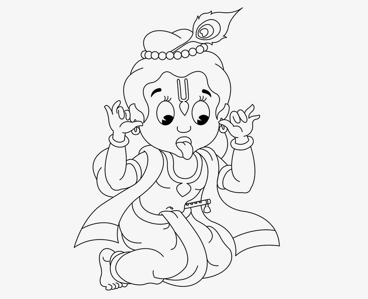 Colour Drawing Free HD Wallpapers: Little Krishna Coloring ...