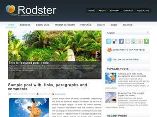 Rodster blogger template