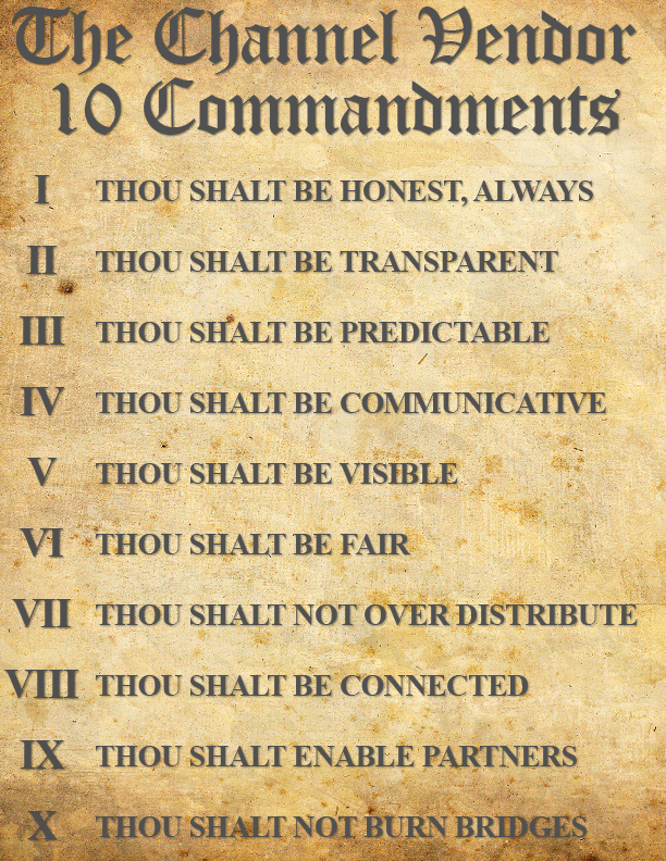 Channel Vendor 10 Commandments