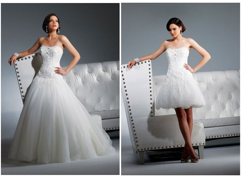 WhiteAzalea 2 In1 Wedding Dresses Hottest Convertible Wedding Dress