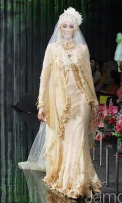 gaun muslimah pengantin
