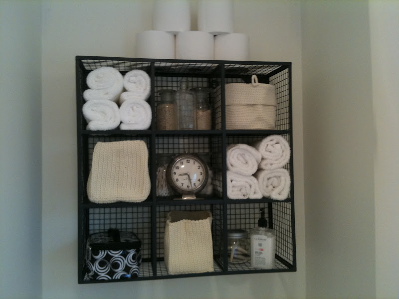 Bathroom Towel Storage Over Toilet
