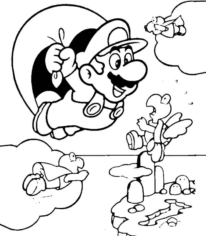 mario baseball coloring pages - photo#16