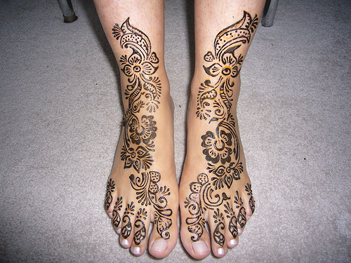 HENNA SENSE: Henna Designs For FEET