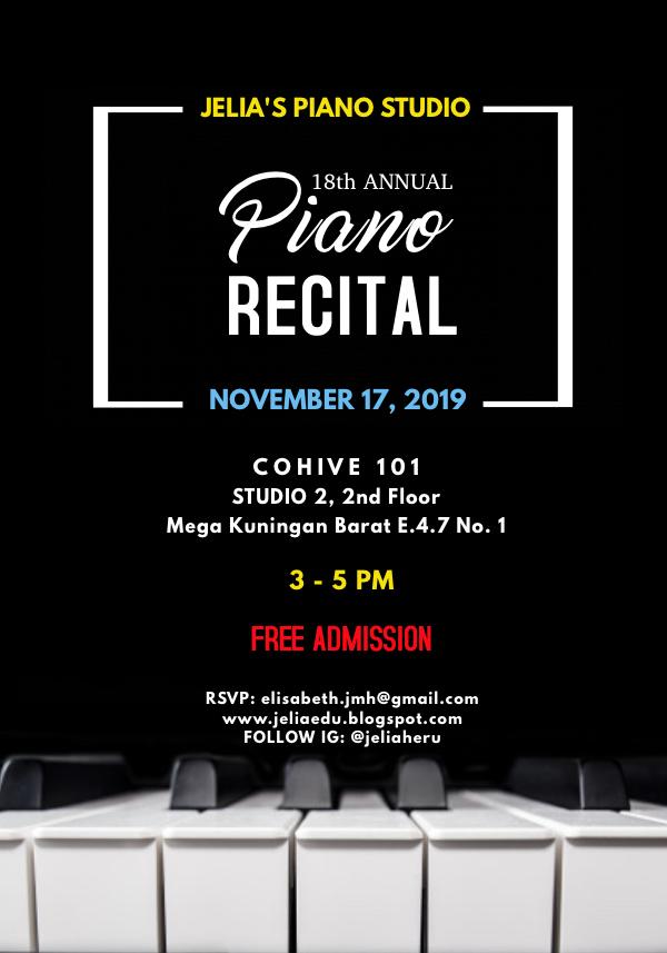 Piano Recital @ CoHive 101