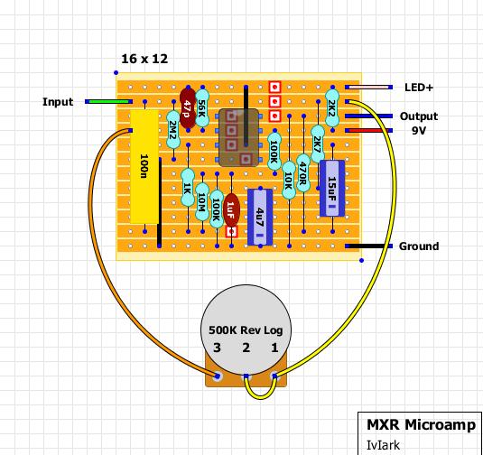 guitar fx layouts mxr micro amp rh tagboardeffects blogspot com