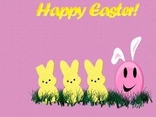 Happy Easter, Zečići i jaje, Uskrs download besplatne pozadine slike za mobitele