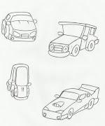 Desenho de carrinhos para pintar. Lindos desenhos feitos a mão de carrinhos .