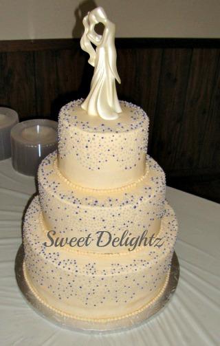 Sweet Delightz: Purple & Silver Dots Wedding Cake