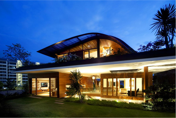 Singapore homes designs modern home designs for Small house design singapore