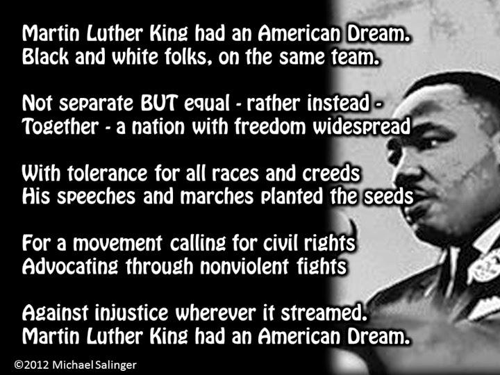 Michael Salinger: MLK couplet poem