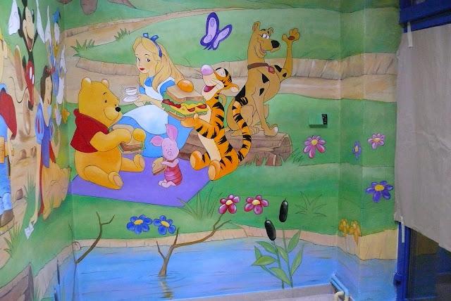Pokój dla dziecka, malowanie obrazu 3d w pokoju dziecięcym