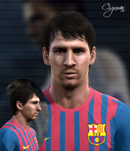 Messi Face by Cigman