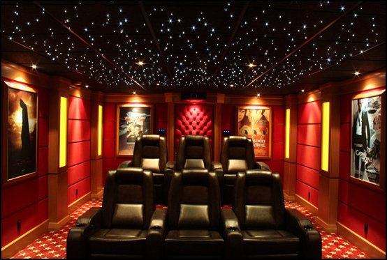 Comhome Cinema Decor : ... home theater design ideas - Hollywood style decor - movie decor - home