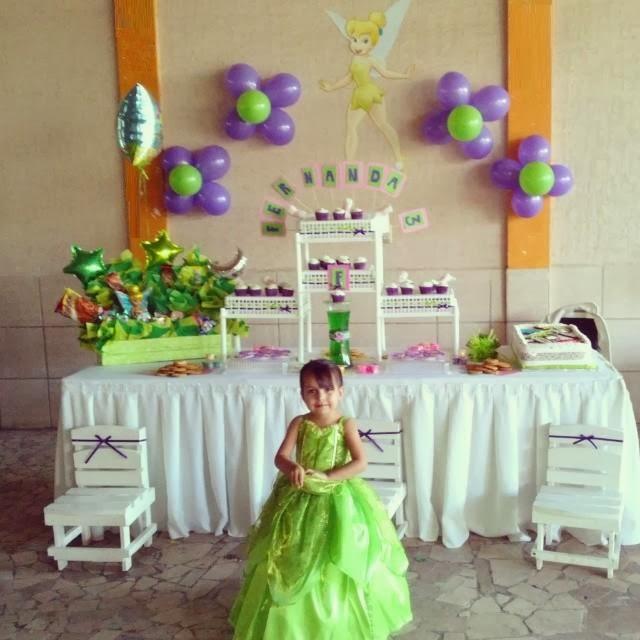 Reyna candy bar fiesta tem tica de campanita para ni a de for Decoracion cumpleanos nina 2 anos