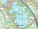 Figuur 1. Overzicht van de meetlocaties in het Paterwoldse meer. Pag. 10. Watersysteemonderzoek Paterswoldsemeer