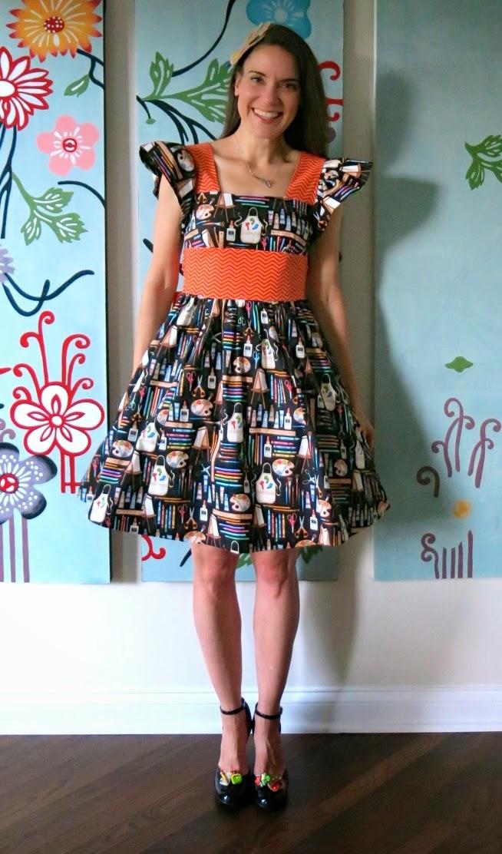 Cassie Stephens: art teacher dress