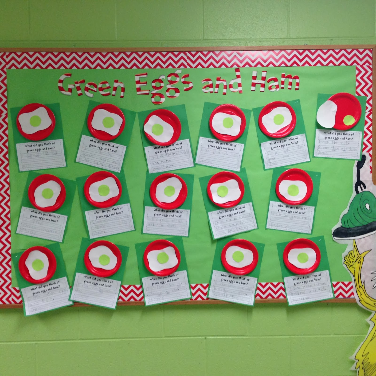 My Class Helped Me Decide The Theme Of Our Bulletin BoardGreen Eggs And Ham