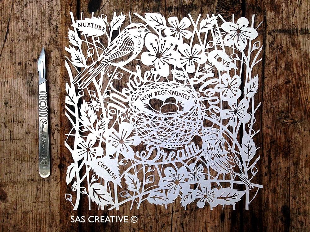 SAS Creative New Beginnings Papercut