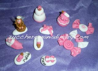 bomboniere battesimo, matrimonio, segnaposto, confetti pasta di zucchero