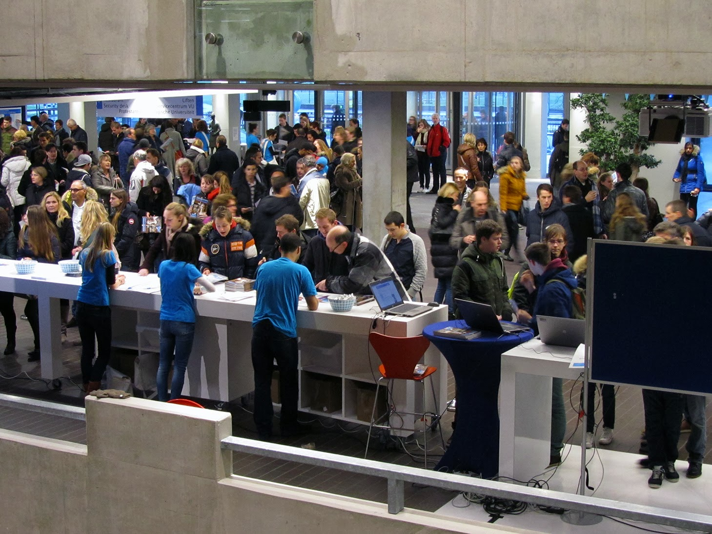 registration and information desk