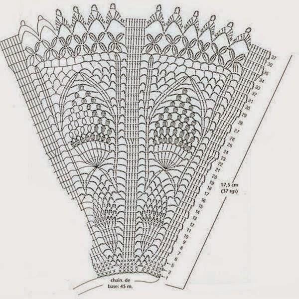 Patrones de abanicos de novia a crochet ~ Manualidades para tu boda