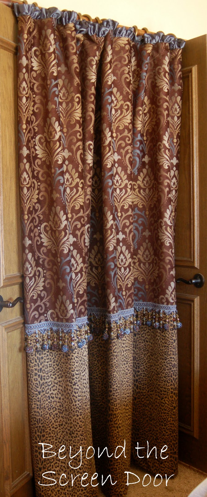 beyond the screen door a custom shower curtain for robin