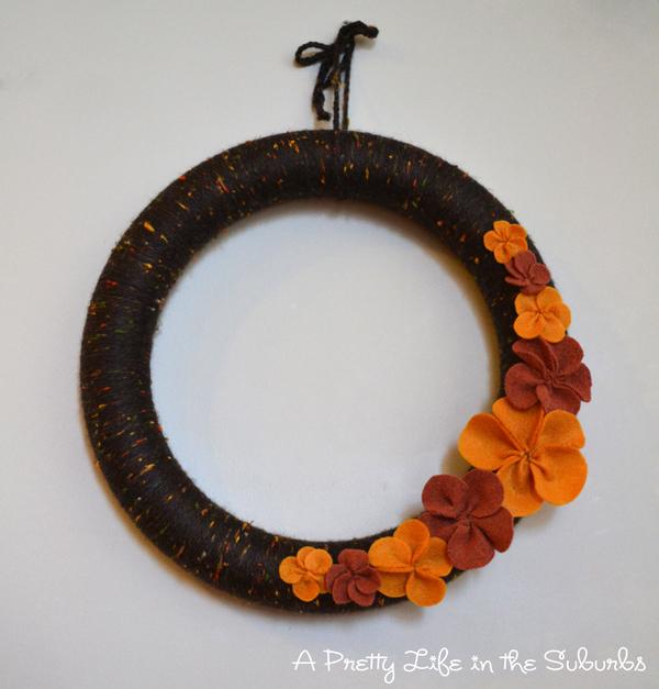 Cozy Fall Yarn Wreath
