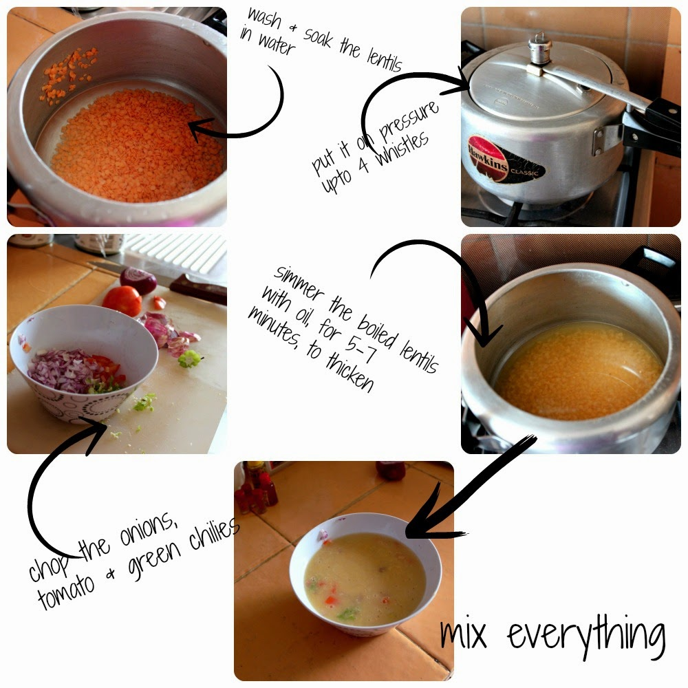 how to make bengali style red lentils